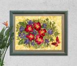 Цветочная фантазия, композиция из засушенных цветов и листьев photo 5