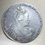 Рубль 1733 года. Без локона за ухом. R1 photo 2