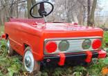 Детская педальная машинка Львовянка 1980 г