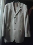 Пиджак жёлтого цвета в коричневую клетку., фото №3