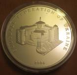 Памятная медаль 15 лет федерации футбола Украины серебро 925 пробы, 62,2грама photo 2