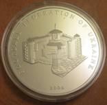 Памятная медаль 15 лет федерации футбола Украины серебро 925 пробы, 62,2грама photo 5