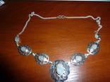 Ажурное ожерелье с лунным камнем, фото №2