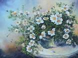 """Картина """"Букет білої шипшини"""" 2014р., 35*45см, полотно, олія, Березіна Каріна"""