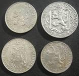 Серебряные монеты Чехословакии 4 шт. photo 2