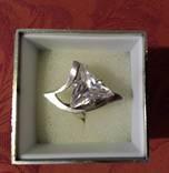 Шикарное серебряное кольцо 925 проба с цирконием