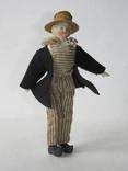 Старинная кукла пастушок в соломенной шляпе  с фарфоровой головой ., фото №2