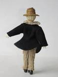 Старинная кукла пастушок в соломенной шляпе  с фарфоровой головой ., фото №3