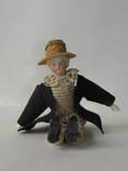 Старинная кукла пастушок в соломенной шляпе  с фарфоровой головой ., фото №5