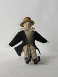 Старинная кукла пастушок в соломенной шляпе  с фарфоровой головой ., фото №6
