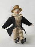 Старинная кукла пастушок в соломенной шляпе  с фарфоровой головой ., фото №7