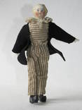 Старинная кукла пастушок в соломенной шляпе  с фарфоровой головой ., фото №8