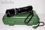 Фонарик аккумуляторный POLICE BL-T8626 99000 W с универсальным креплением photo 9