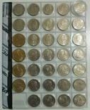 Монеты США. 25 цента (29 шт), 5 цента (1 шт), 1 доллар (4 шт). 34 шт одним лотом.