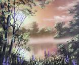 Картина Тёплый вечер, 25х30 см, живопись на холсте, маслом, оригинал, с подписью