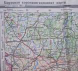 Бортовая аэронавигационная карта Киев 1950 года photo 1
