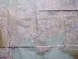 Бортовая аэронавигационная карта Киев 1950 года photo 6