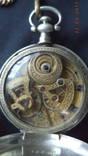 Серебряные карманные часы Juvet Fleurier №35551, китайский крабовый дуплекс 1840 год