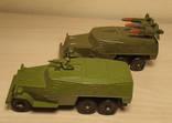 БРДМ с ракетами и пулеметчиком