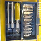 Качественный набор скальпелей 13 лезвий и 3 держателя