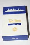 "Полная пачка сигарет ""Tallin"" Filtriga Таллин 1960-е года."