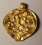 Золотая лунница ЧК 1,55гр