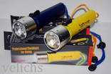 Фонарик подводный DIVING LIGHT IPX8 ( жёлтый )