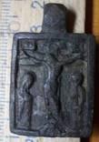 Иконка 15-16 век.Распятие с предстоящими.
