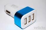 Автомобильное зарядное устройство на 3 USB 2100 мAч ( без резерва)
