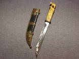 Нож слоновая кость резьба авторская работа 50-х