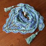 Бактус вязаный (мини-шаль, шейный платок) photo 3