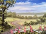 Картина Тропинка в лето, 30х40 см., живопись на холсте, маслом, оригинал, с подписью photo 1