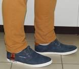 0019 Мужские Классические полукеды , цвет- Синий, со вставками