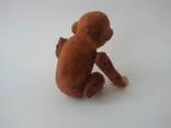 Заводная механическая плюшевая обезьянка клееные опилки СССР исправная photo 3
