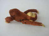 Заводная механическая плюшевая обезьянка клееные опилки СССР исправная photo 10