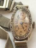 OLMA винтажные швейцарские часы 750.с Алмазами.20 годы.