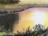 Картина Золотистый туман, 50х40 см. холст, масло, оригинал, с подписью автора photo 2