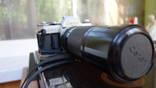 Фотоаппарат CANON AE-1 с телевиком canon zoom FD 100-200mm 1:56