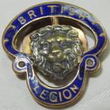 1939-1945 Значок эмаль Военный Королевский Британский Легион № 411783 photo 1
