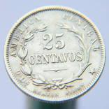 25 Сентаво 1890, Коста-Ріка, срібло, Тираж 395 000