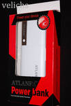 POWER BANK ''ATLANFA '' AT- D2011 12000 mAч 3 USB +фонарик