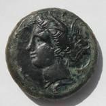 АЕ Драхма, СІЦІЛІЯ, Коло 354/3-344 BC (30мм, 29,68 грамм).