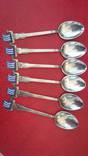 Набор ложечек с эмалями 925 пробы, фото №4