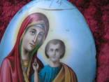 Икона Казанскiя пр.бог. финифть, фото №5