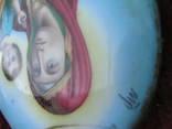 Икона Казанскiя пр.бог. финифть, фото №9