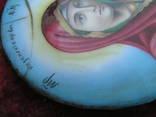 Икона Казанскiя пр.бог. финифть, фото №10