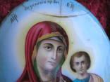 Икона Казанскiя пр.бог. финифть, фото №12