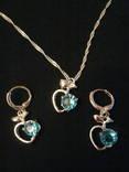 Серебряний ювелирный набор с кубическим цирконием