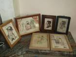 Интересная коллекция картин Акварель Иудаика – 6 шт.