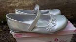 Туфли девочке серебряные 34 размер